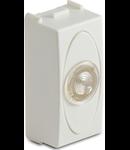 Priza cu lampa lumina alba de usa, 1modul, 220V, alba