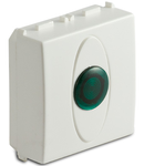 Priza cu lampa lumina verde de usa, 2 module, 220V, alba