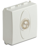 Priza cu lampa lumina alba de usa, 2 module, 220V, alba