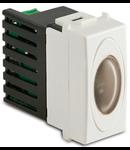 Semnalizator alarma de urgenta, 1 modul, 12h autonomie, luminozitate 3CD, 230V~, alb