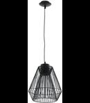 Lampa suspendata Piastre,neagra,1x7w,cablu negru