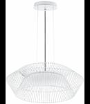 Lampa suspendata Piastre,alba,1x18w,cablu negru