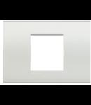 Placa ornament ALB 2 module pentru doza de 3