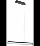 Lampa suspendata Trevelo,24w,negru,cristale