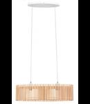 Lampa suspendata Narola,2x60w,lemn natur