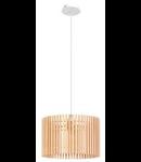Lampa suspendata Narola,1x60w,lemn natur