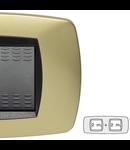 Placa ornament technopolimer, 2+2  module, alama mata