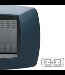 Placa ornament technopolimer, 2+2 module, albastru inchis