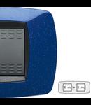 Placa ornament technopolimer, 2+2 module, albastru violet
