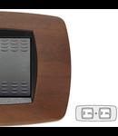 Placa ornament technopolimer, 2+2 module, nuc inchis