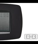 Placa ornament technopolimer, 2+2 module, negru
