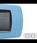 Placa ornament technopolimer, 2+2 module, albastru deschis