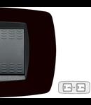 Placa ornament technopolimer, 2+2 module, negru indigo
