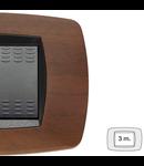 Placa ornament technopolimer, 3 module, nuc inchis