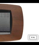 Placa ornament technopolimer, 4 module, nuc inchis