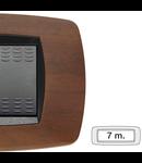 Placa ornament technopolimer, 7 module, nuc inchis