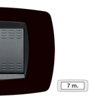 Placa ornament technopolimer, 7 module, negru indigo