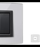 Placa Vitra sticla cristal, 2 module, mod comanda gri