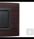 Placa Vitra lemn wenge, 2 module, mod comanda gri