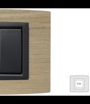 Placa Vitra lemn stejar alb, 2 module, mod comanda gri