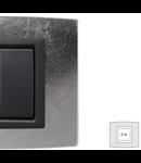 Placa Vitra sticla frunza de argint, 2 module, mod comanda gri