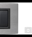 Placa Vitra aluminiu, 2 module, mod comanda gri