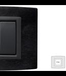 Placa Vitra aluminiu antracit, 2 module, mod comanda gri