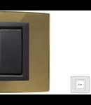 Placa Vitra sticla oglinda de aur, 2 module, mod comanda gri