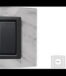 Placa Vitra sticla marmura Carrara, 2 module, mod comanda gri
