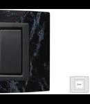 Placa Vitra sticla marmura Sicilia, 2 module, mod comanda gri