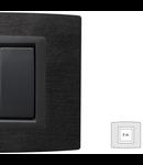 Placa Vitra piatra Ardesia, 2 module, mod comanda gri