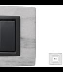 Placa Vitra piatra alba Dolomite, 2 module, mod comanda gri