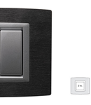 Placa Vitra piatra Ardesia, 2 module, mod comanda argintiu