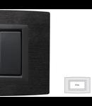 Placa Vitra piatra Ardesia, 4 module, mod comanda gri