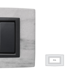 Placa Vitra piatra alba Dolomite, 4 module, mod comanda gri