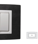 Placa Vitra piatra Ardesia, 4 module, mod comanda alb