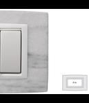 Placa Vitra piatra alba Dolomite , 4 module, mod comanda alb