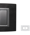 Placa Vitra piatra Ardesia, 4 module, mod comanda argintiu
