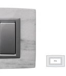 Placa Vitra piatra alba Dolomite, 4 module, mod comanda argintiu
