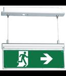 Corp de iluminat Exit 12LED (9VA) permanent 3 ore