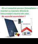 Kit complet Inverter+ panouri fotovoltaice 230v max 3.6kw