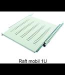 """Raft mobil pentru rack 19"""" 1U  Negru 1000mm"""