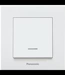 Intrerupator cu LED Karre Plus Panasonic alb