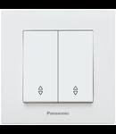 Comutator cap scara Karre Plus Panasonic alb