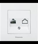 Priza simpla date RJ45 cat. 5E Panasonic Karre Plus alb