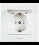 Priza shuko cu capac Karre Plus Panasonic