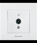 Priza TV trecere 12 dB Karre Plus Panasonic alb