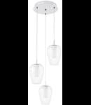 Lampa suspendata VENCINO,3x6w,alb,LED,rotunda