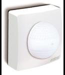 Senzor de miscare profesional, detectie cu infrarosu, pentru cladiri publice,alb