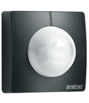 Senzor de miscare profesional, detectie cu infrarosu, pentru cladiri publice,negru